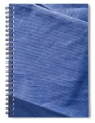 Blue Fabric Spiral Notebook