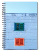 Blue Facade And Colorful Windows Spiral Notebook