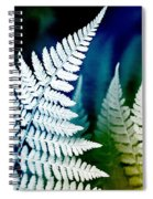 Blue Fern Leaf Art Spiral Notebook