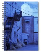 Blue Fire Escape Usa Near Infrared Spiral Notebook