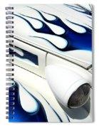 Blue Fire Spiral Notebook