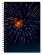 Blue Firework Flower Spiral Notebook