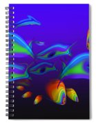 Blue Fish Dolphin Spiral Notebook
