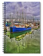 Blue Fishing Boat Hdr Spiral Notebook