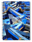 Blue Fishing Boats Spiral Notebook