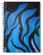 Blue Flames Of Healing Spiral Notebook