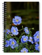 Blue Flax By The Pond Spiral Notebook
