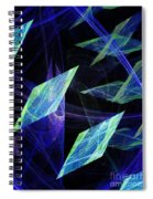 Blue Floating Diamonds Spiral Notebook