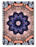 Blue Flora Mandala Spiral Notebook