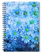 Blue Floral Fantasy Spiral Notebook