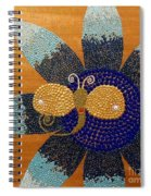 Blue Flower And Dragonfly Spiral Notebook