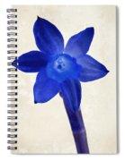 Blue Flower Beige Texture Spiral Notebook