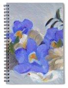 Blue Flower Still Life Spiral Notebook