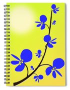 Blue Flowers Spiral Notebook