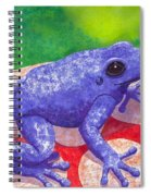 Blue Frog Spiral Notebook