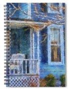 Blue Front Porch Photo Art 01 Spiral Notebook