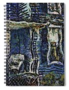 Blue Front Porch Photo Art 04 Spiral Notebook