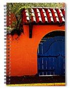 Blue Gate In Santa Fe Spiral Notebook