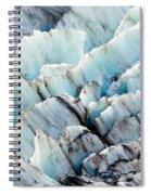 Blue Glacier Ice Background Texture Pattern Spiral Notebook