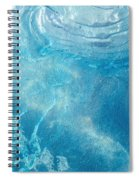 Blue Glacier Ice Spiral Notebook