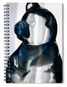 Blue Glass Bear Spiral Notebook