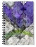 Blue Glass Flower Spiral Notebook