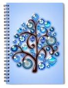 Blue Glass Ornaments Spiral Notebook