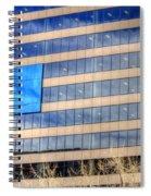 Blue Glass Reflections 4993 Spiral Notebook