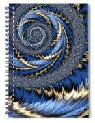 Blue Gold Spiral Abstract Spiral Notebook
