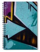 Blue Graffiti Arrow Square Spiral Notebook
