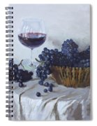 Blue Grapes And Wine Spiral Notebook