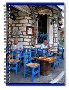 Blue Greek Taverna Spiral Notebook