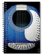 Blue Guitar Baseball White Laces Square Spiral Notebook
