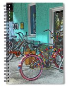 Blue Heaven Key West Bicycles Spiral Notebook