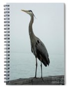 Blue Heron Fulton Harbor Tx Spiral Notebook
