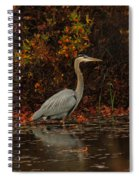 Blue Heron In The Fall Spiral Notebook