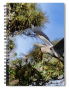 Blue Heron In The Trees Oil Spiral Notebook