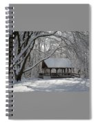 Blue Heron Park In Winter Spiral Notebook