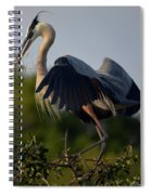 Blue Heron Wing Tips Spiral Notebook