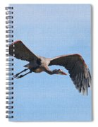 Blue Herons Last Fly By Spiral Notebook