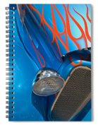 Blue Hot Rod Spiral Notebook