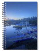 Blue Hour At Panglao Port Spiral Notebook