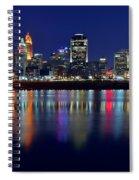 Blue Hour In Cincinnati Spiral Notebook
