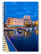 Blue Hour Zadar Waterfront View Spiral Notebook