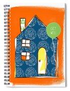 Blue House Get Well Card Spiral Notebook