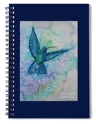 Blue Hummingbird In Flight Spiral Notebook