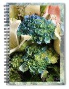 Blue Hydrangeas Painterly Spiral Notebook