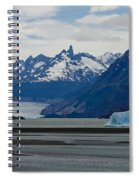 Blue Icebergs On Grey Lake In Patagonia Spiral Notebook