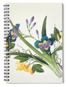 Blue Iris And Insects Spiral Notebook