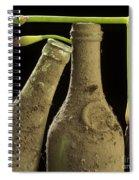 Blue Iris And Old Bottles Spiral Notebook